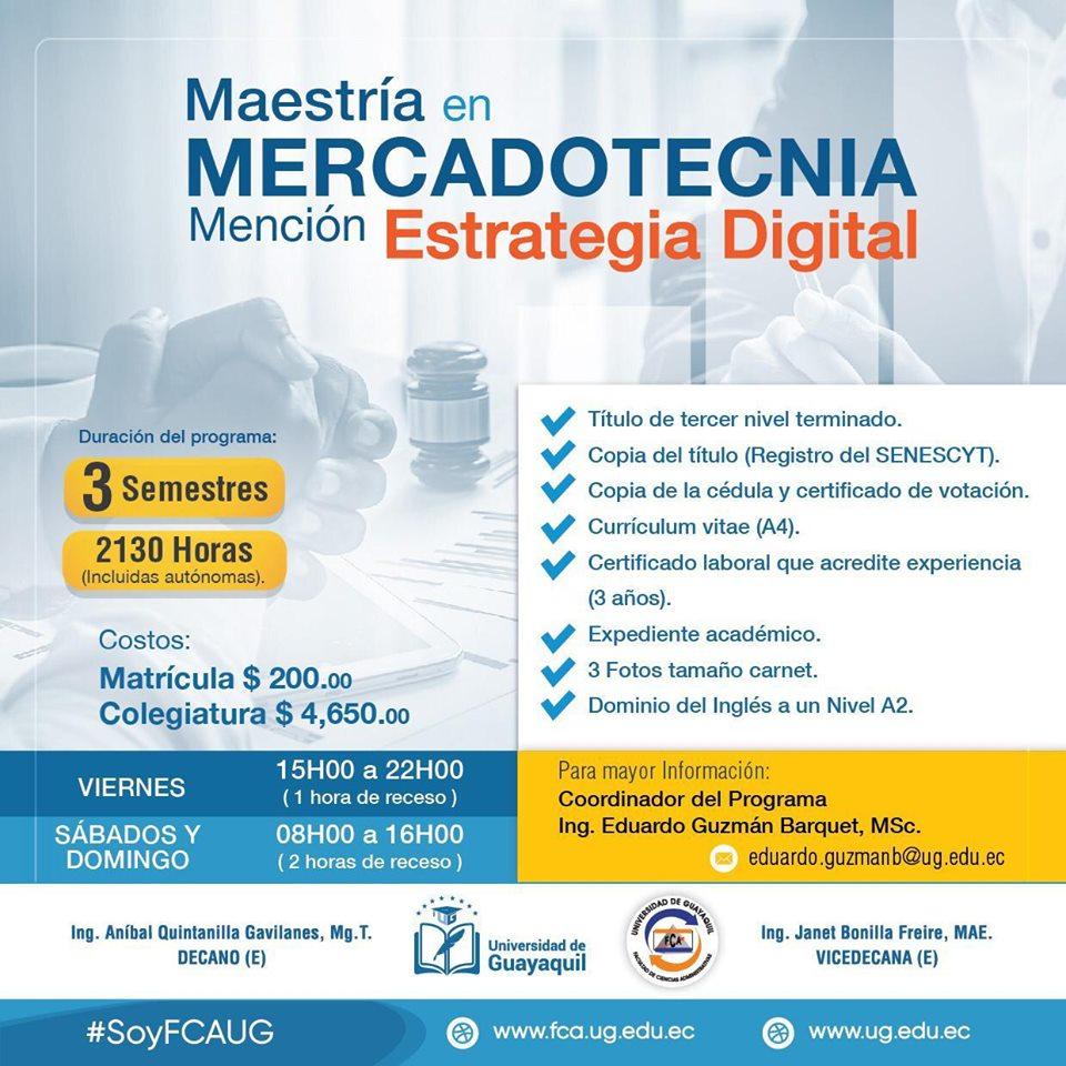 Maestría en Mercadotecnia mención Estrategia Digital