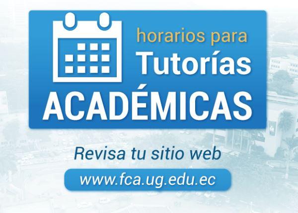 Horarios para Tutoría Académica 2019 – 2020 CII