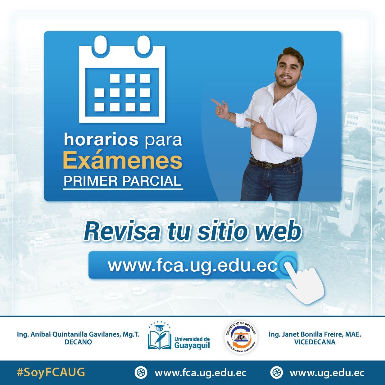 Horarios de Exámenes Ciclo II 2019-2020